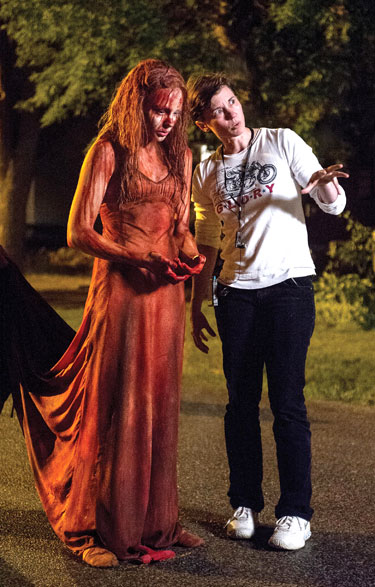 ''Carrie'' Director Kimberly Peirce and Chloe Moretz Photo by Michael Gibson