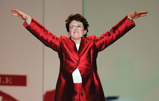 Billie Jean King Photo by courtesy The Heart Truth