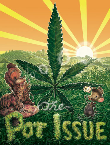 The Pot Issue  Photo by Illustration by Scott G. Brooks