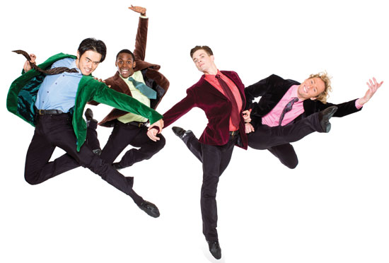 Washington Ballet British Invasion: Chong Sun, Andile Ndlovu, Jonathan Jordan and Jared Nelson Photo by Tony Brown