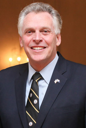 Virginia Gov. Terry McAuliffe Photo by governor.virginia.gov