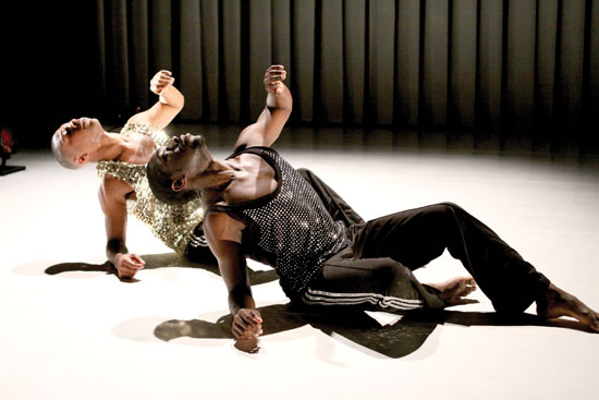 Motion Kyle Abraham and Chalvar Monteiro in Live Photo by Steven Schreiber