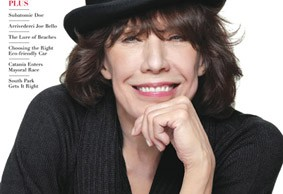 Lily Tomlin on cover of Metro Weekly