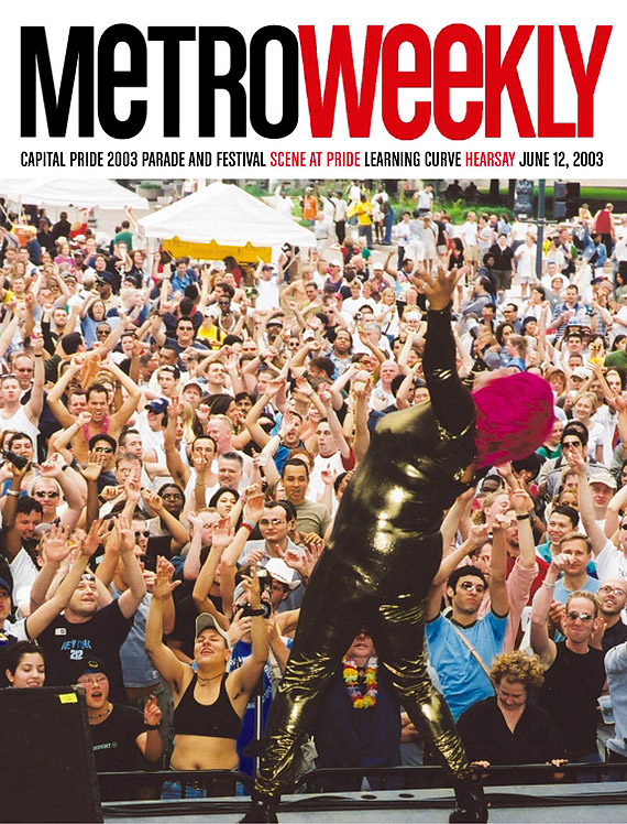 Capital Pride Festival cover June 12, 2003