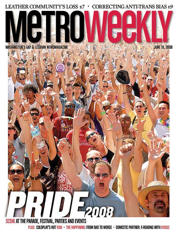 Capital Pride Festival cover June 19, 2008
