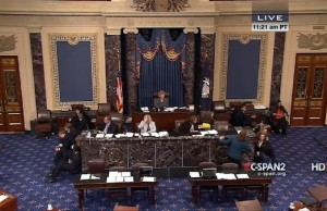 Image: U.S. Senate. Credit: Screenshot via C-SPAN.