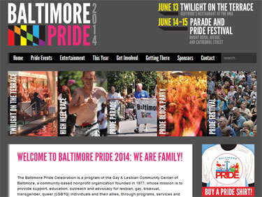 Baltimore Pride website