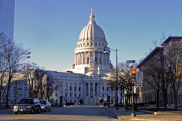 Photo: Wisconsin State Capitol. Credit: Taber Andrew Bain/flickr.