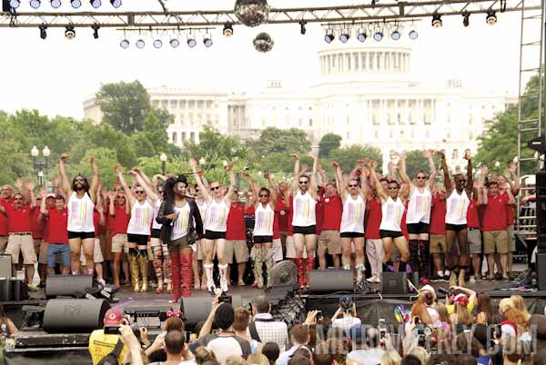 2014 Capital Pride Festival stage (Click to view Metro Weekly's 400+ photos)