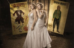 "Emily Padgett and Erin Davie in ""Side Show"" Photo by Cade Martin"