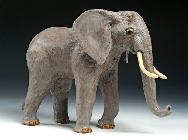 Elephant Sculpture by Trinka Roeckelein