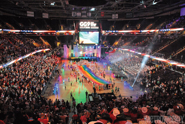 Gay Games 2014 ceremony Photo by Ward Morrison