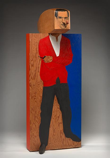 Hugh Hefner by Marisol Escobar (born 1930)  Polychromed wood, 1966–67