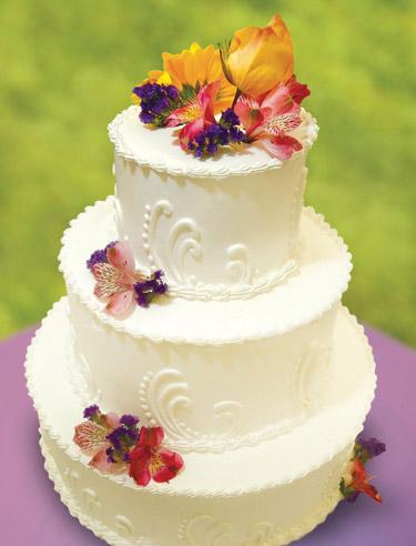 Wedding cake  Photo by Ward Morrison