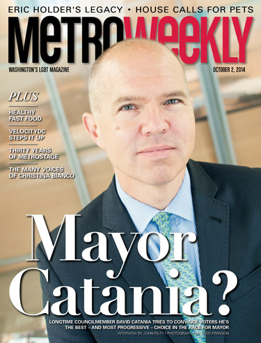 David Catania on cover of Metro Weekly Photo by Todd Franson