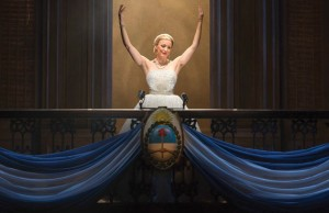 "Caroline Bowman as Eva Peron in ""Evita"""