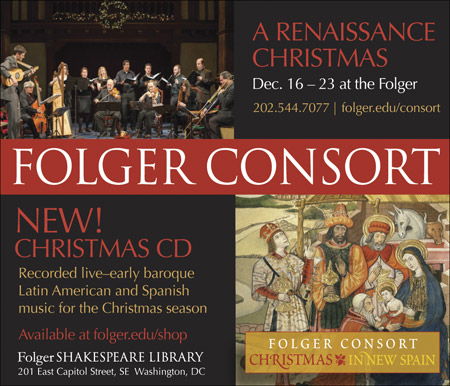 Folger Shakespeare Library: Folger Consort -- folger.edu/consort -- 202-544-7077
