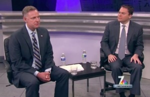 Scott Peters (left0 and Carl DeMaio - Credit: NBC San Diego