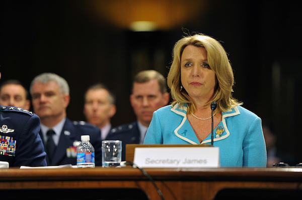 Deborah Lee James - Credit: U.S. Army National Guard photo by Sgt. 1st Class Jim Greenhill