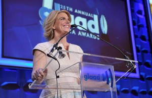 Sara Kate Ellis at the GLAAD Media Awards