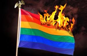 Burning Rainbow Flag
