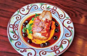 Cherry Pork chop at Cuba Libre Photo courtesy of Heather Freeman Media