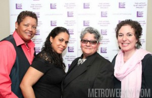 "Attendees of LHP's Women's History Month event, ""Mujeres en el Movimiento"""