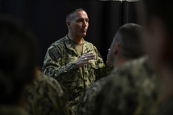 Mike Stevens - Credit: DoD photo by Mass Communication Specialist 2nd Class Blake Midnight, U.S. Navy