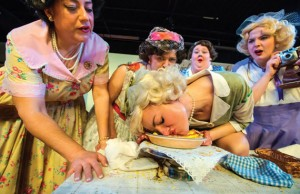 Richmond Triangle Players: 5 Lesbians Eating a Quiche Photo by John MacLellan