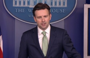 White House Press Secretary Josh Earnest - Screenshot via YouTube