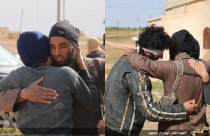 ISIS Fighters embrace two gay men prior to their execution