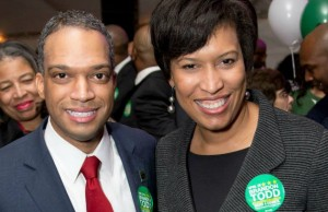 Ward 4 candidate Brandon Todd with Mayor Muriel Bowser