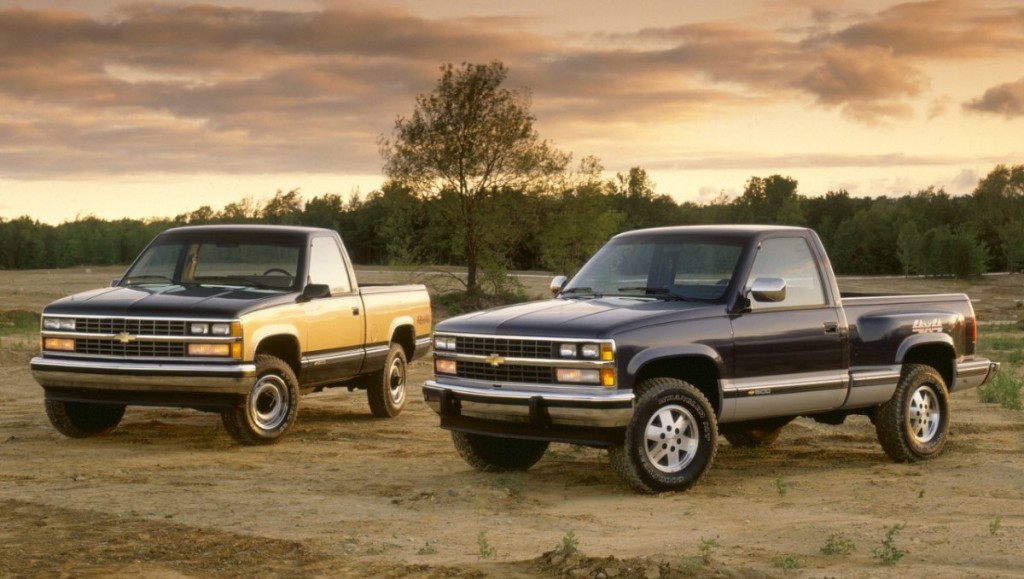 Chevrolet K1500 Silverado and Chevrolet K1500 Sportside. 1988, Credit - GM