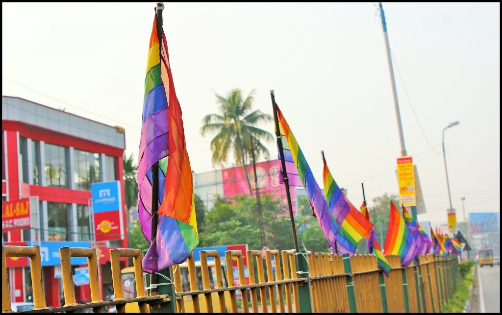 LGBT flags in Aluva, India - Photo: Nagarjun Kandukuru / Flickr