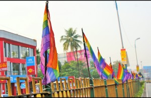 LGBT flags in Aluva, India, Credit - Nagarjun Kandukuru / Flickr