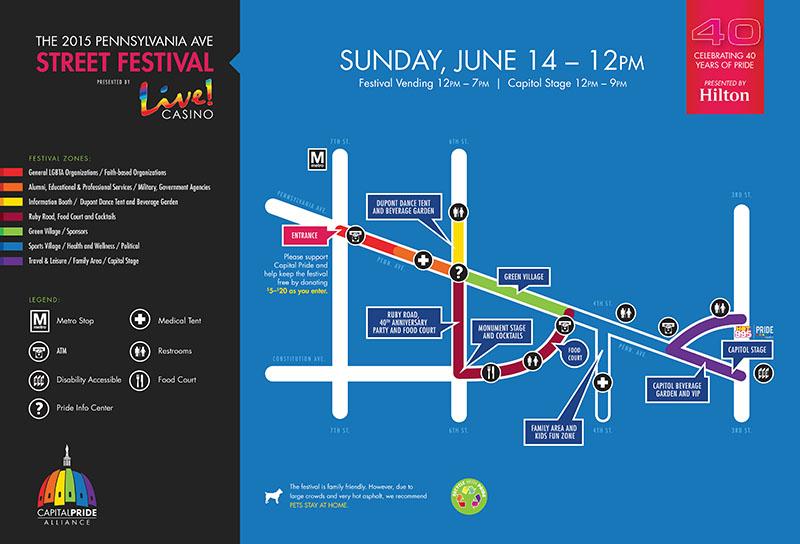 2015 Pride Festival Map