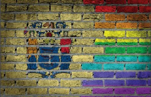 The official state seal of New Jersey on brick wall background. Photo credit: Micha, via MyImages.