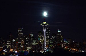 Picture of the Seattle skyline at night (Photo credit Nova77, via Wikimedia Commons).