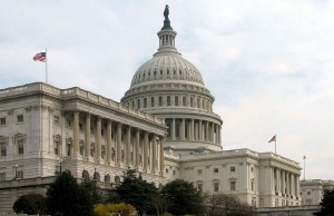 The Senate side of the U.S. Capitol building (Credit: Scrumshus, via Wikimedia Commons).