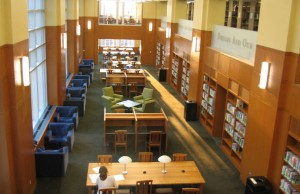 A study room inside Duke University's Bostock Library (Photo credit: Bluedog423 via Wikimedia Commons).