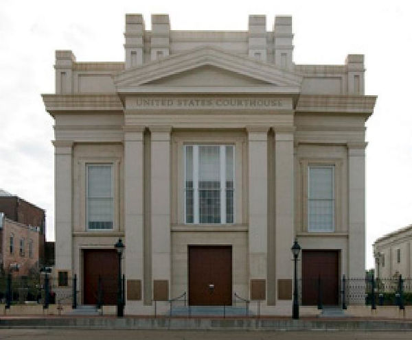 U.S. Courthouse in Natchez, Miss. for the U.S. District Court for the Southern District of Mississippi (Credit: General Services Administration, via Wikimedia Commons).