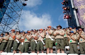 Boy Scouts at the BSA 2010 National Scout Jamboree (Credit: U.S. Department of Defense, via Wikimedia Commons).