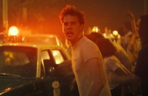 "A still shot of the movie ""Stonewall,"" featuring Jeremy Irvine (Credit: Roadside Attractions)."