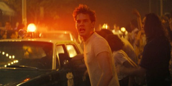 """A still shot of the movie """"Stonewall,"""" featuring Jeremy Irvine (Credit: Roadside Attractions)."""