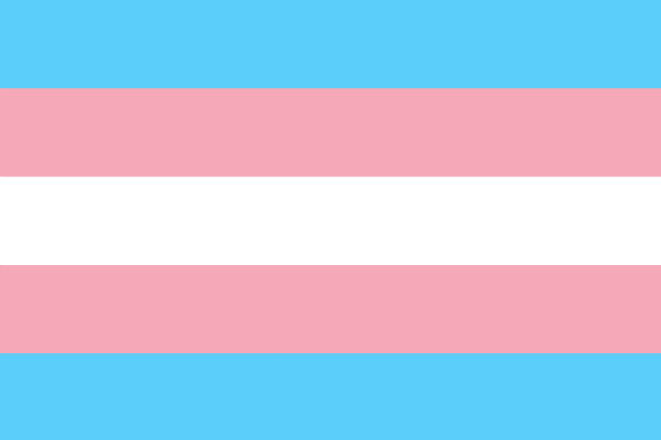 The Transgender Pride Flag - Photo: Monica Helms, via Wikimedia Commons.