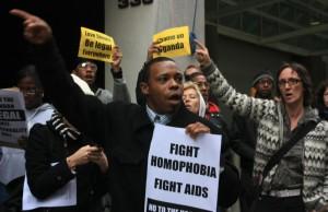 Uganda Anti-Homosexuality Bill protest, Credit - Wikimedia