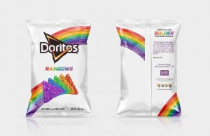 The Doritos brand, in partnership with the It Gets Better Project, launches Doritos Rainbows chips, a new, limited-edition product to celebrate the LGBT community. ; Get your bag while supplies last and learn more at: ItGetsBetter.org/DoritosRainbows (PRNewsFoto/Frito-Lay)