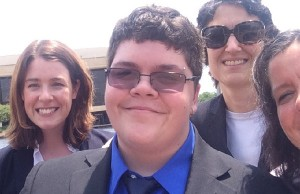 Gavin Grimm and legal team - Photo: via ACLUVA.org