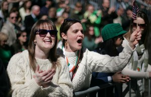 Revelers at New York's St. Patrick's Day Parade (Photo: Sgt. Randall Clinton, via Wikimedia Commons).
