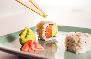 Sushi with chopsticks - Photo: Todd Franson